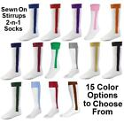 NEW! 2 in 1 Stirrup Sport Socks Baseball Softball Football in Your Color/Size!