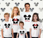Disney Personalized with your NAMES Family Matching Shirts Red Glitter Minnie