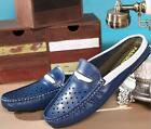 mens casual slip on loafer slipper sandal leather  moccasins driving shoes Chic