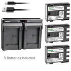 Kastar Battery Slim Dual Charger for Canon NB-2L CB-2LW & VIXIA HF R100 ZR300
