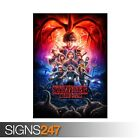 STRANGER THINGS SEASON 2 (ZZ022)  MOVIE POSTER - Poster Print Art A0 A1 A2 A3