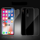 Premium Front & Back Tempered Glass Screen Protector iPhone X XS XR Max 7 8 Plus