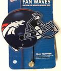 Denver Broncos Wincraft Sports Fan Waves Suction Cup Mounted Window Sign NFL on eBay