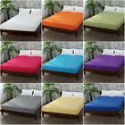 Bed Fitted Sheet Elastic Sheets Polyester & Cotton Single Twin Full Queen King image
