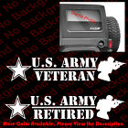 Us Army Veteran/retired Armed Services Car Window Vinyl Decal Sticker Ay030