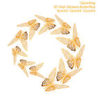12pcs 3D Butterfly Wall Stickers Art Decals Home Baby Shower Kids Party Decor