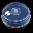 US Plastic Microwave Plate Cover Clear Steam Vent Splatter Fresh Lid Food Dish