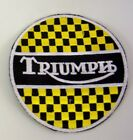 PATCH TRIUMPH MOTORCYCLES EMBROIDERY EMBROIDERED THERMOADHESIVE 8 cm $6.79 AUD on eBay