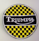 PATCH TRIUMPH MOTORCYCLES EMBROIDERY EMBROIDERED THERMOADHESIVE 8 cm $6.86 AUD on eBay