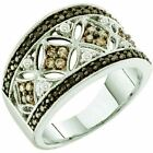 0.50 ct 14 ct Gold White, Brown & Black Diamond Ladies Right Hand Fashion Band