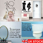 Durable Bathroom Toilet Decoration Seat Art Wall Stickers Decal Home Decor Uk