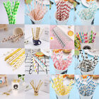 bamboo drinking straws - 100PCS Gold Drink Paper Straws Birthday Party Supplies Theme Polka Baby Shower