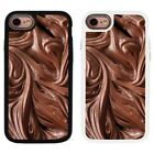 Chocolate Pattern Design 2 Piece Back Case Cover For Apple iPhone 7 & 8 - S123