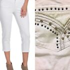 NWT Earl White Cropped Embellished Jeans