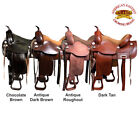 15 16 17 18 Western Horse Saddle Leather Treeless Trail Pleasure Hilason O110