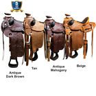 15 16 17 Western Horse Saddle Leather Wade Ranch Roping By Hilason D005