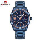 NAVIFORCE Casual Waterproof Quartz Men Military Stainless Steel Sports WatchesWristwatches - 31387