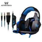 KOTION EACH 3.5mm Earphone Gaming Headset Gamer PC Headphhone Gamer Stereo Gamin