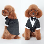 Pet Dog Cat Tuxedo BowTie Suit Wedding Party Puppy Coat Costume Clothes S-XXL