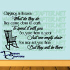 Christmas In Heaven Poem Quote Vinyl Wall Art Decal Removable Color & Size