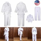 Taekwondo Suits Uniform White V Neck Doboks Karate Training Suit For Adult/Kids