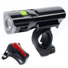 MTB Road Bike Bicycle Cycling Head Front Lights w/ 2 Laser Rear Tail Lamps Set
