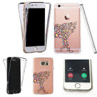 Silicone 360° Full Protection Cover Case For Most Mobiles stripe cheetah