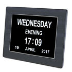 """8"""" Dementia LED Digital Calendar Day Clock Extra Large Time Day/Week/Month/Year"""