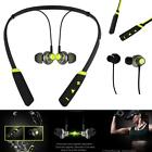 New Green Bluetooth Wireless Headphones Sports Eapieces Mic For LG Phone Cases