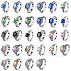 2018 New 925 Fashion Sterling Cubic Zircon Silver Ring Engagement Wedding Rings