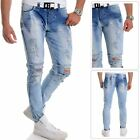 Men's Cipo & Baxx Jeans Distressed Ripped Denim Washed out Blue 32L Slim Fit