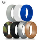 7Colors Set Silicone Rings Flexible Gift For Couple Women Men Wedding Sport
