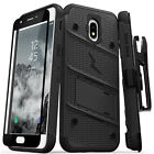 Samsung Galaxy J7 2018 Case Zizo Bolt Series with Screen and Holster J7 Refine