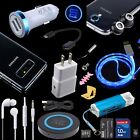 Accessory Kits Lens QI Pad Case Car Cable Fast Wall Charger for Samsung Galaxy