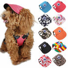 Caps For Dogs Cute Holes Small Baseball Pet Hat Sun Visor Ear Summer With