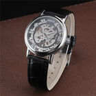 New Fashion Men Luxury Thin Case Transparent Dial Automatic Mechanical Watch