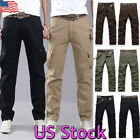 Men's Combat Army Military Tactical Work Slim Fit Twill Cargo Pants Trousers US