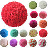 20cm  Artificial Flowers Rose Flower Balls Topiary Hanging Basket Plant Home Dec