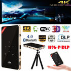 H96-P 4K 1080P Mini DLP Projector Wifi Bluetooth Home Theater Android HDMI 2 16G