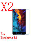 1/2x HD Clear 9H Tempered Glass Film Screen Protector Skin Cover For Elephone S8