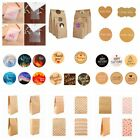 Внешний вид - 60/100PC Handmade With Love Label Sealing Stickers Candy Bag Wedding Party Gift