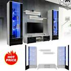 Tv Wall Mounted Cabinet Stand High Gloss Fronts Living Room Unit Furniture Set