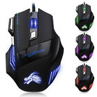 5500DPI LED Optical USB Wired Gaming Mouse 7 Buttons Gamer Laptop PC Mice SY