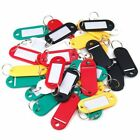 10~100 PCS Key Tags With Ring Keychain Key ID Label Luggage Name Tag Plastic