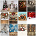 Merry Christmas Xmas Theme Party Photography Backdrop Wood A