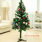 New Christmas Tree Pine With Stand White Green  Silver 4ft 5ft  6ft US Seller