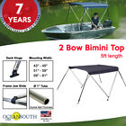 2 Bow BIMINI TOP Boat Cover, 5ft Long With Integrated protective Cover
