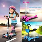 Kids Scooter Deluxe for Age 3-8 Adjustable Kick Scooters Girls Boys 3 LED Wheels