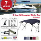 Oceansouth 3 Bow BIMINI TOP Boat Cover 4ft Long with Rear Support Poles image