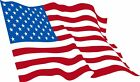 USA American Flag Exterior Decal with UV Laminate Coating, Various Sizes